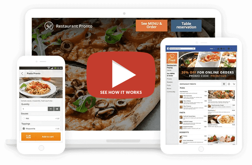 Food Booking Instant Website Generator 2