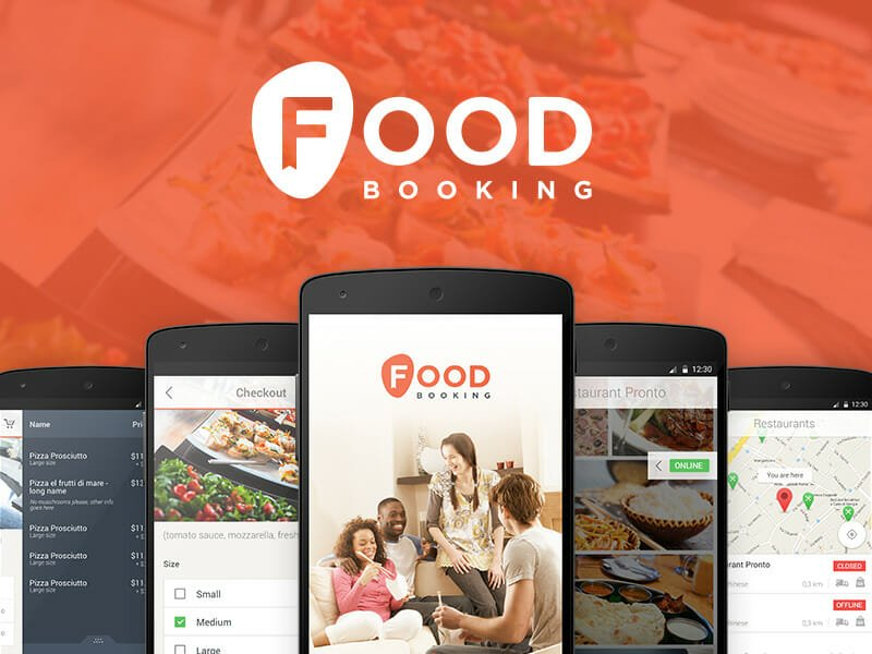 Food Booking - online ordering for restaurants and takeaways
