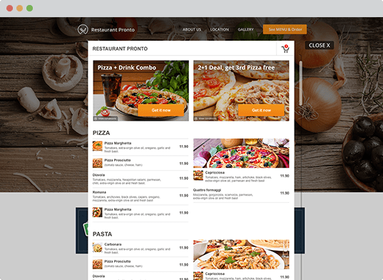 Food Booking Instant Website Generator 4